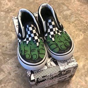 Toddler Boys Marvel Hulk CheckerVans Slip-on Shoe